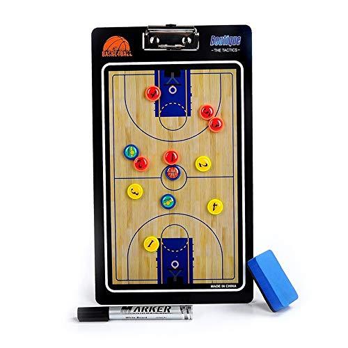 DorisAA Carrelli in PVC Colorati Lavagna segnapunti Coach Basket Board Tactical Coaching 2 Lati...