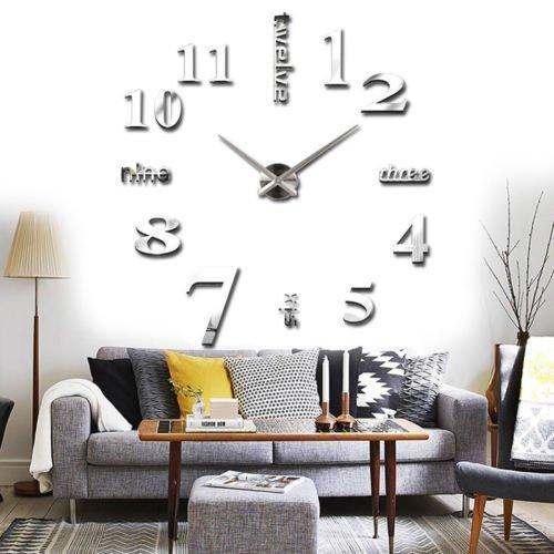 Wall Sticker orologio digitale adesivi Wall Clock DIY 3D Orologio da Parete decorativo per Casa...