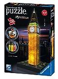 Ravensburger Italy- Puzzle 3D Big Ben-Edizione Speciale Notte, 216 Pezzi, 12 588 3