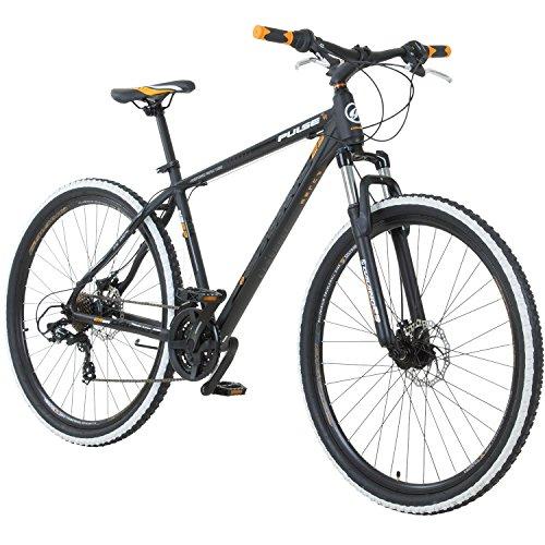 Galano 29 Zoll MTB Toxic/Pulse Mountainbike Scheibenbremsen Shimano Tourney, Farbe:Schwarz/Orange