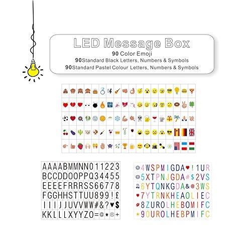 LitEnergy Cinema Sign Inklusive 270 Black Letters, Pastell Farbe Buchstaben, Pastell Farbe Emojis und spezielle dekorative Symbole für den Einsatz mit A4 Cinematic Lightbox