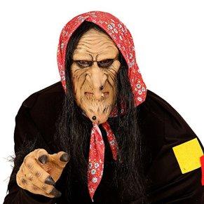 WIDMANN Semi máscara Bruja Vieja Adulto Halloween - Única