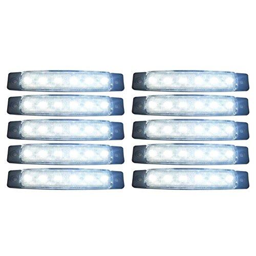 SODIAL(R) 10 pezzi 24V Coda 6 SMD LED indicatore laterale Indicatori lampada posteriore della luce...