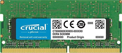 Crucial CT8G4S24AM Memoria da 8 GB da Mac, DDR4, 2400 MT/s, PC4-19200, Single Rank x8, SODIMM, 260-Pin
