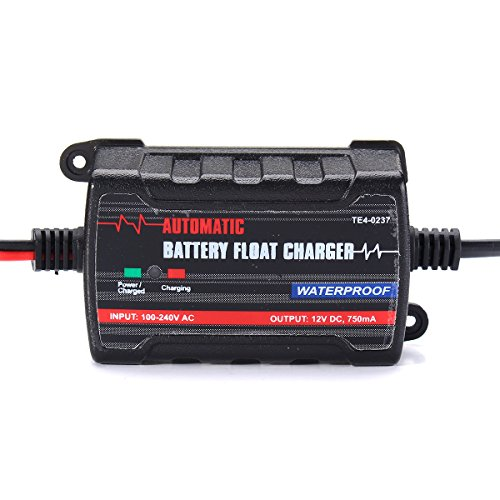 HITSAN Battery Charger Maintainer Trickle RV Car Truck Motorcycle Waterproof Automatic