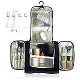 Beauty Case da Viaggio Borsa da Toilette, Bottiglie di Viaggio per Cosmetico - uomini e donne | Organizzare impermeabile per accessori da bagno trucco, Kit Rasura liquidi | approvate dalla TSA (Nero)