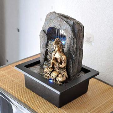 Zen' Light Buda Zen Dao Fuente, Resina, Bronce, 21x 17x 25cm 5
