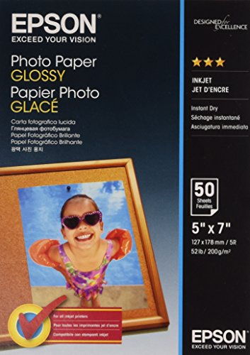 Epson Carta Fotografica Lucida, 127 x178 mm, 50 Fogli, Bianco