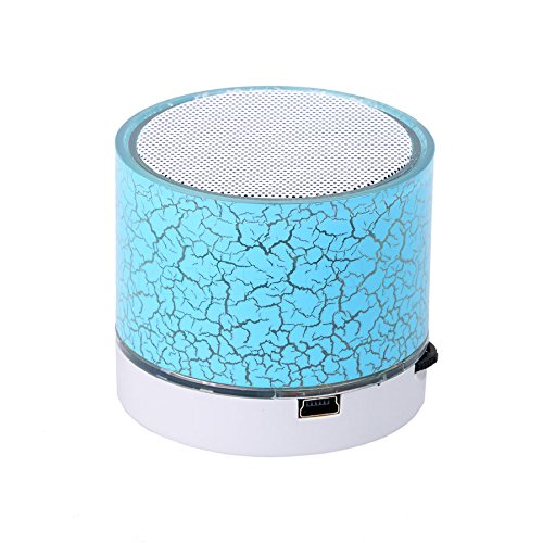 Exclusive Deals, Great Indian Sale, Golden Hour Deals, New Mini Bluetooth Speaker LED Light Portable Wireless Colorful Loudspeakers Handsfree Calls Stereo Music Speakers Player support TF Card FM Radio and USB - Dinosaur Egg Blue