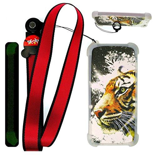 Custodia per Samsung Galaxy Trend Plus Gt-S7580 Custodia Bordo del Silicone + PC Card Stand Case Cover La Notte splende LH