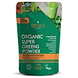 Next Gen U | Organic Super Greens Powder 150g | Featured in The Vegan Magazine | Free eBOOK On Purchase | SuperGreen Smoothie Supplement | Energy Boost | Over 20% Protein | 9 High Quality Supergreens