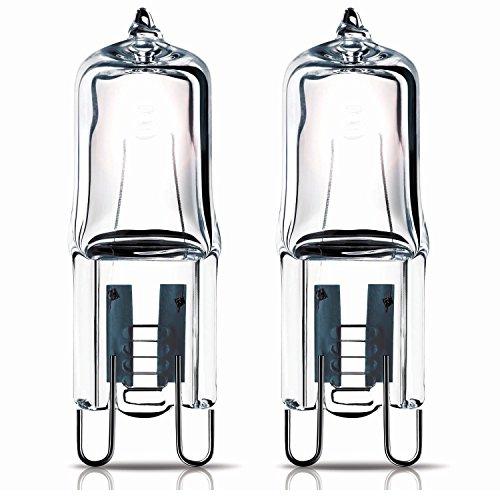 2x 40W G9capsula alogena lampadina per forno per uso all' interno di un Zanussi forno. 240V....