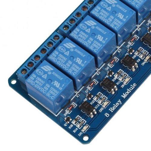 51CotY8I2GL - kuman 5V 8 Canales Escudo Módulo de Relé para Arduino UNO-R3 1280 2560 ARM PIC AVR STM32 Raspberry Pi DSP K30