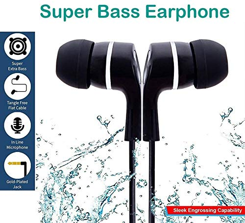 VOLTAC Ear Earphone/Headphone with Mic for All Mobile Phones Model 24972