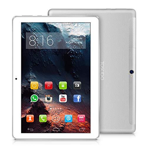 TOSCIDO 4G LTE Tablet 10 Pollici - Android 9.0 Certificato da Google GMS, 4GB + 32GB Rom+32GB TF...