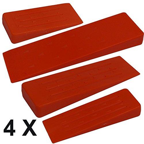 4er SET SPARANGEBOT Fällkeil Nachsetzkeil aus schlägzähem Kunststoff für die Forstwirtschaft und die Brennholzverarbeitung
