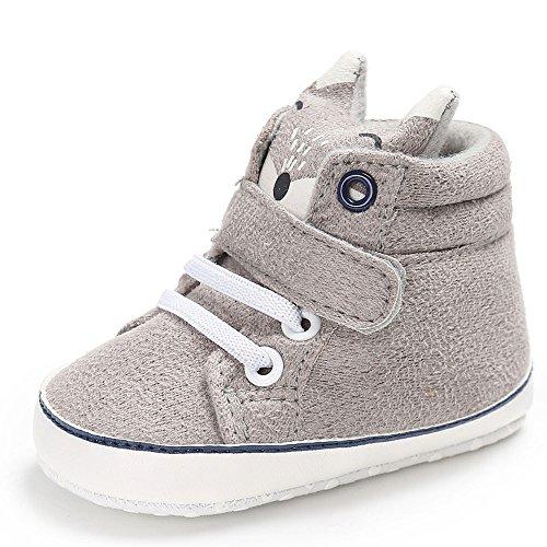Ginli scarpe bambino,Scarpe Primi Passi Scarpine Neonato Scarpe Tela Bambino Scarpe Tela Bambino Baby Girl Boys Fox Hight Cut Shoes Sneaker Antiscivolo Soft Sole Toddler