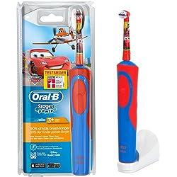 Braun Oral-B Stages Power AdvancePower Kids 900TX elektrische Akku-Zahnbürste Kinder 3+ (D12.513.K) Disney CARS + Timer