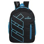Sassie Polyester 41 L Black Blue School and Laptop Bag with 3 Large Compartments 17