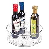mDesign Especiero Giratorio- Práctico Estante para Especias para frigorífico, congelador, despensa - Plato Giratorio especiero para condimentos - Transparente