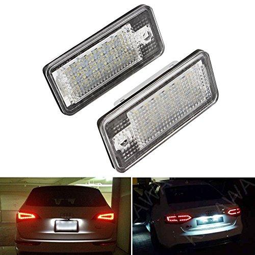 ZTMYZFSL Targa a LED 2 pezzi A4 (B8) A4 (B8) A5 / S5 Q5 TT/TT RS, xeno bianco 6000K per la...
