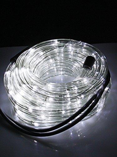 Tubo a led luminoso per natale luci natalizie per esterno e interno impermeabile 20 metri 360 led luce bianca fredda con controller