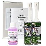 Kalkentferner und Urinsteinentferner extra stark für Bad, Dusche, Toilette und Waschbecken - Probisa Micro d'Or 803 und 2er Putzstein WC