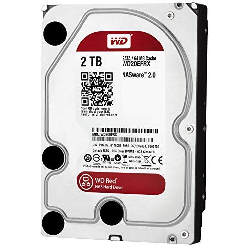 WD Red 2TB interne Festplatte,5400 RPM Class SATA 6 Gb/s 64MB Cache 3.5 Inch