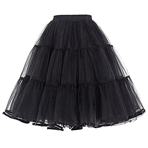 50er Jahre Kleid Vintage Retro Petticoat Reifrock Unterrock Petticoat in Mehreren Farben ZYB000177