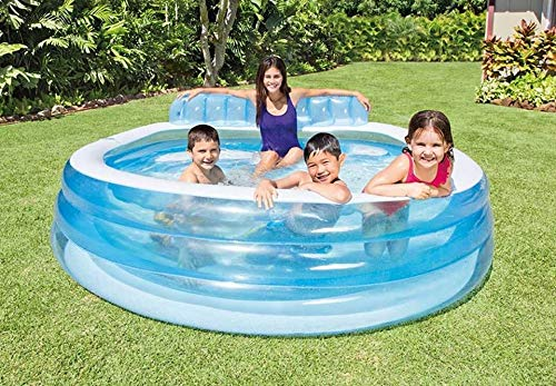 Intex Inflatable Swim Center Family Lounge Pool with Built-In Bench- 57190