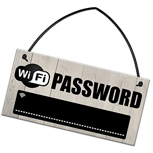 WiFi password rustico in legno insegna pub Shop Cafe hotel WiFi – Lavagna 20 x 10 cm
