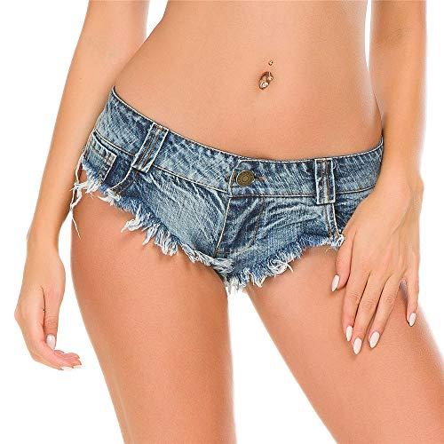 FJJBHSD Hosen Sexy Sommer Frau Denim Shorts Hot Pants Jeans Pailletten...