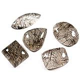 Gems&JewelsHub 88.70ct 100% naturale quarzo rutilato cabochon mix 5pz lotto all ingrosso