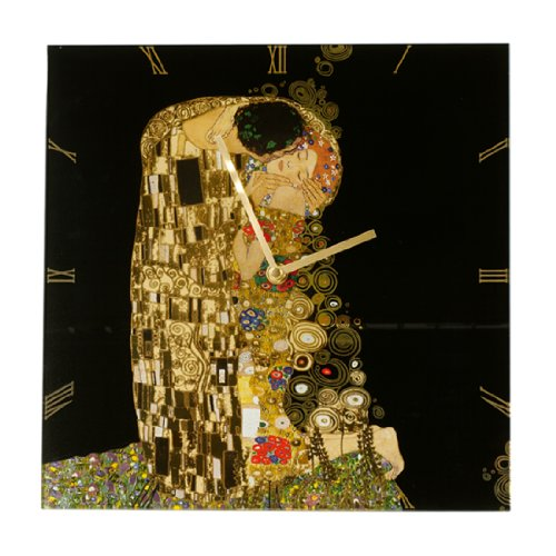 Goebel 66886813 - Orologio da Parete Il Bacio, Gustav Klimt