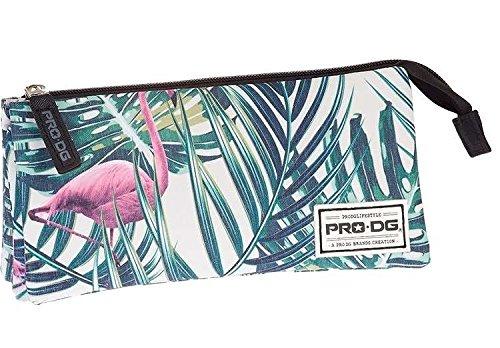 PRODG PRODG Triple Pencil Case Flamingo Astuccio, 23 cm, Multicolore (Multicolored), poliestere