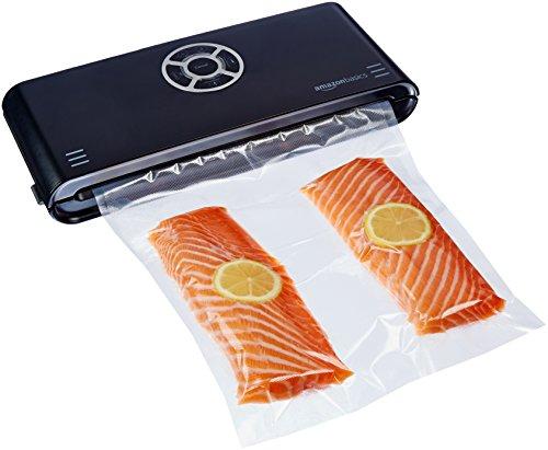 AmazonBasics, Macchina sigillatrice per sottovuoto, Larghezza di sigillatura 30 cm,10 sacchetti per...