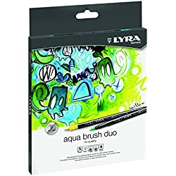 Lyra Aqua Brush Duo - Estuche 12 rotuladores de color