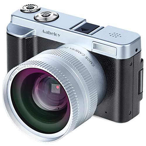 "Digitalkamera-Camcorder, Full HD 1080p 24.0MP 30FPS Vlogging-Kamera WiFi-Videokamera-Camcorder mit Weitwinkelobjektiv, 16X-Digitalzoom, 3,0\""IPS-Rotations-Flip-Screen-Kamera-Recorder, 2 Batterien"