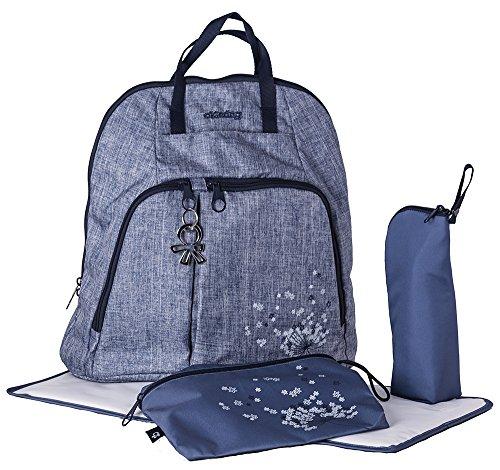 okiedog TREK 37013 borsa per pannolini zaino incl. accessori URBAN, jeans