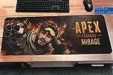 LJA Apex Legends Tapis de Souris Gaming XXL - 800 x 300 mm - Base en Caoutchouc Antidérapant Surface