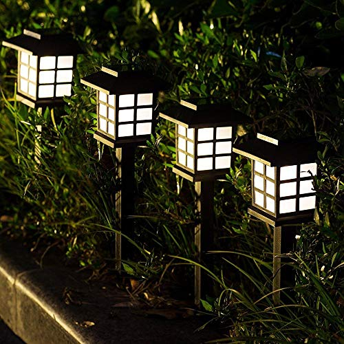 Epyz Solar Powered LED Outdoor Pathway Lights, Landscape Path Lights, Automatic Led for Patio, Yard, Garden (1, White)