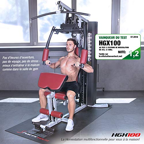 Sportstech VAINQUEUR du Test* La Station de Musculation Premium 30en1 HGX100 de pour des Variantes d'entraînement innombrables. Home-Gym Mul... 23