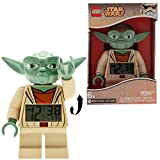 LEGO Star Wars 9003080 Sveglia retroilluminata per bambini minifigure Yoda   plastica   24 cm di altezza   Schermo LCD   verde/giallo   per i bambini   ragazza/ragazzo