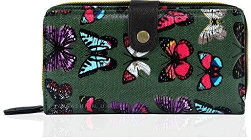 Kukubird Patrón de mariposa sólo billeteras y monederos de doble compartimiento comerciales