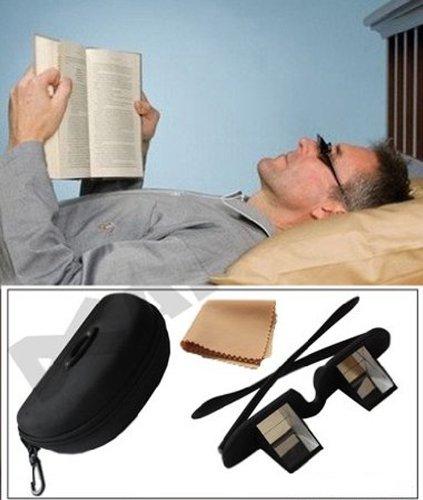 Andux gafas de periscopio fácil acostarse en la cama para la lectura de soporte para libros con estuche y paño Lr/01
