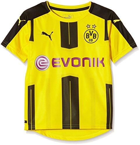 Puma Kid del Borussia Dortmund Home 16–17–réplica de la Camiseta de fútbol, Infantil, BVB Home F6, Amarillo y Negro, 15-16 años