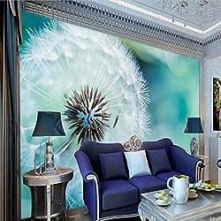 Papier peint 3D Mural Abstraite Pissenlit Salon Salon Canapé-lit Chambre Set Papier Peint Pour Murs Tissu De Soie (W)400x(H)280cm
