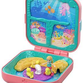 Polly Pocket Cofre Mundo Sorpresa Sirenas, Muñecas con Accesorios (Mattel GDK77)