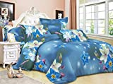 Juego de funda de edredón 3d juego de funda de edredón 3pc ropa de cama Animal Floral rosa 55g/m² Nuevo (doble, diseño de flores, color azul