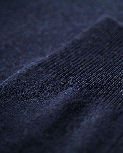 100% Kaschmir Damen Kapuzenpullover | Hoodie mit Reißverschluss (Blau / Marine, S) - 5